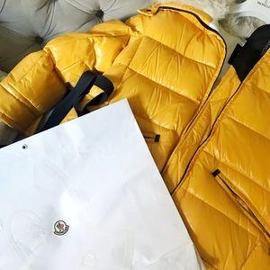 516e6688f6a6 Moncler Jackets & Coats - Moncler GRENOBLE Lamb Fur Collar Puffer Jacket